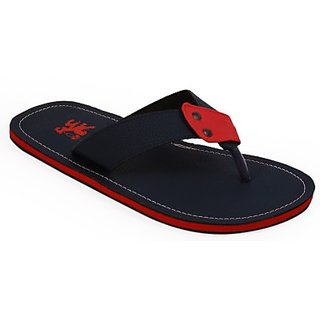Stylos Mens Blue and Red Slippers