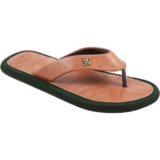 Stylos Mens Brown and Green Slippers