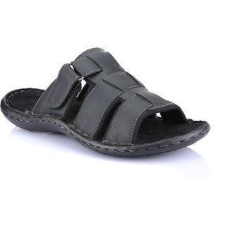 Red Tape Mens Black Slippers (RSS1771)