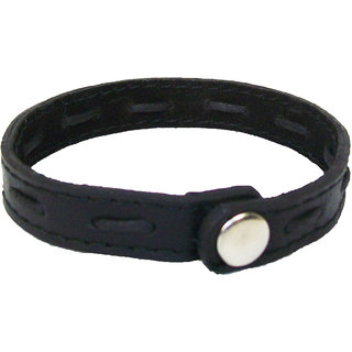 Sakhi Styles Genuine Leather Bracelet for mens with black rivets adjustable .