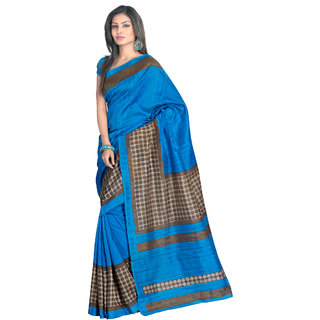 Aaliya Blue Colored Bhagalpuri Silk Printed Saree ORHSR6114AMHSR