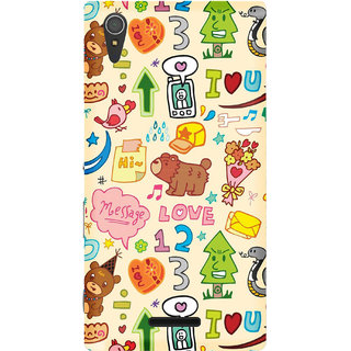 WOW Printed Back Cover Case for Sony Xperia T3