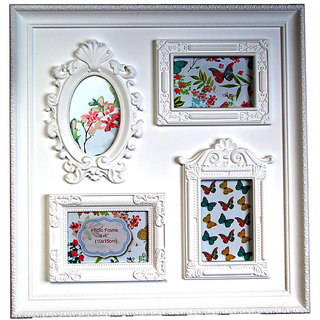 Empreus White 4 Photo Collage Frame