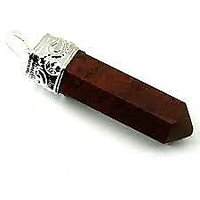 RED JASPER PENCIL PENDANT ( CRYSTAL HEALING )