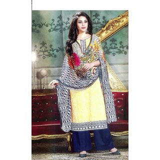 Rosaniya Un stitched lawn salwar suits in Karachi Prints with Chiffon Dupatta for women