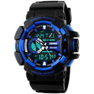 skmei 1117 blue trendy casual analog digital pu quartz 5 atm mens skmei 1117 blue trendy casual analog digital pu quartz 5 atm mens watch nwa05s072c0