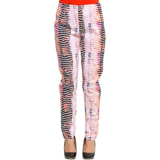 Oxolloxo Multicolor Polyester Printed Pant For Women