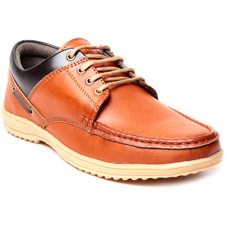 Juan David Mens Tan Lace-up Running Shoes