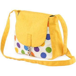 VogueTree Trendy Canvas Hand bags HANDBAG-OCHREPOLKA