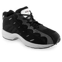 Lancer Mens Black Lace-up Sports Shoes