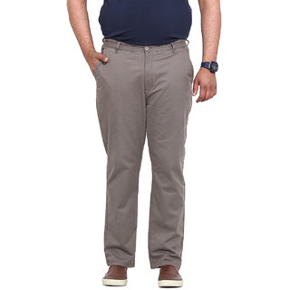 Grey Coloured Cotton Stretch Trouser