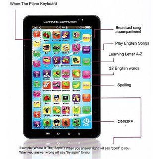 P1000 Black Kids Educational Tablet Toy Gift(3-4 Years)