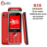 Chilli-B38 Unbreakable Glass, 5 LED Torch Multimedia GSM Mobile Phone