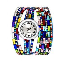 Excelencia CW30Blue Colourful Gems Bracelet Analog Watch - For Women, Girls