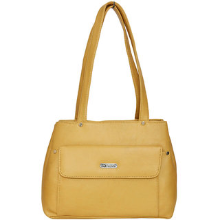 Fdfashion Brown PU Casual Plain Handbag