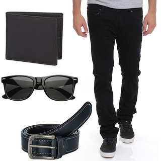 Stylox Stylish Black Jeans With Mens Accessories