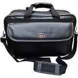 Pride 15.6 inch Expandable Laptop Messenger Bag  Black