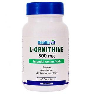 Healthvit L-Ornithine 500 mg 60 Capsules