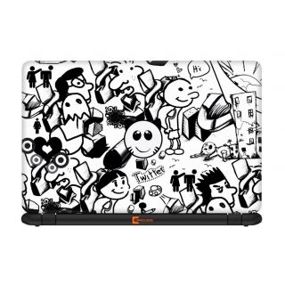 Ownclique Funny Graffiti Laptop Skin for 17 inches Laptop