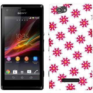 WOW Printed Back Cover Case for Sony Xperia M