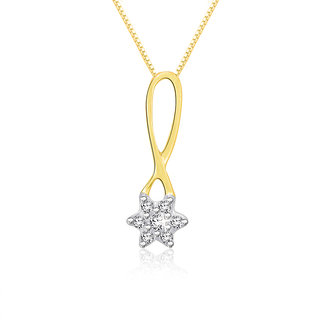 Sparkles 0.04 Ct. Beautiful 18Kt Gold & Diamond Pendant (Design 1)