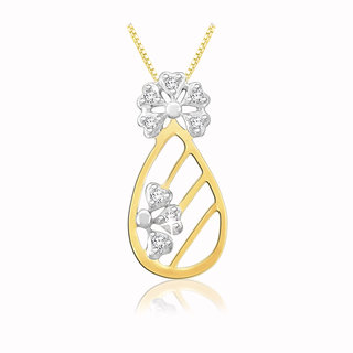Sparkles 0.03 Ct. Beautiful 18Kt Gold & Diamond Pendant (Design 1)