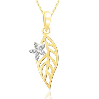 Sparkles 0.04 Ct. Beautiful 18Kt Gold & Diamond Pendant (Design 2)