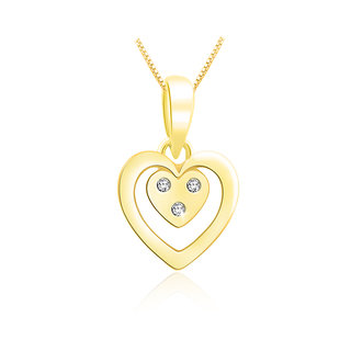 Sparkles 0.03 Ct. Beautiful 18Kt Gold & Diamond Pendant (Design 2)