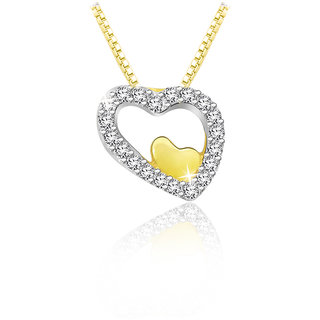 Sparkles 0.038 Ct. Beautiful 18Kt Gold & Diamond Pendant (Design 1)