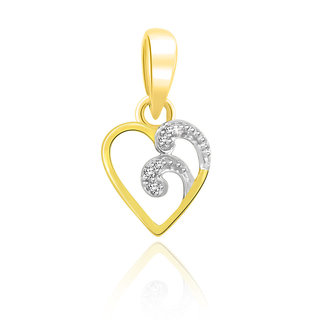 Sparkles 0.03 Ct. Beautiful 18Kt Gold & Diamond Pendant (Design 3)