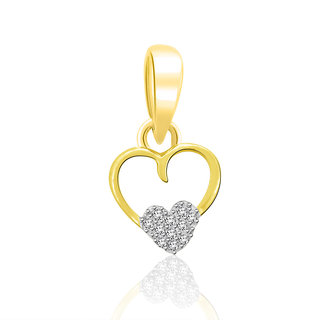Sparkles 0.02 Ct. Beautiful 18Kt Gold & Diamond Pendant (Design 2)