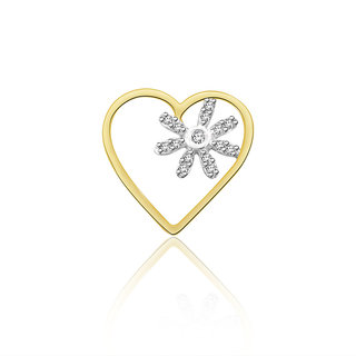 Sparkles 0.031 Ct. Beautiful 18Kt Gold & Diamond Pendant