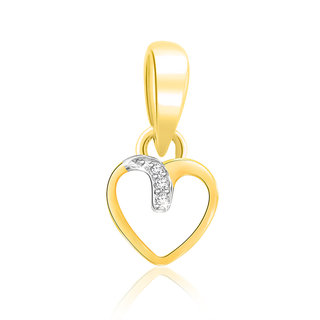 Sparkles 0.01 Ct. Beautiful 18Kt Gold & Diamond Pendant (Design 1)