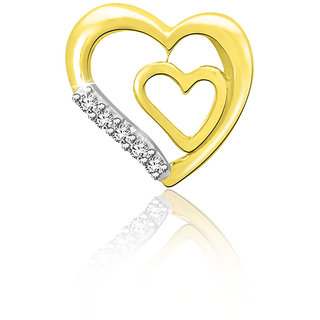 Sparkles 0.02 Ct. Beautiful 18Kt Gold & Diamond Pendant (Design 3)