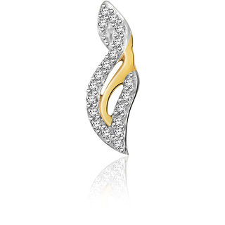 Sparkles 0.038 Ct. Beautiful 18Kt Gold & Diamond Pendant (Design 2)
