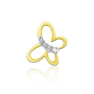 Sparkles 0.01 Ct. Beautiful 18Kt Gold & Diamond Pendant (Design 2)