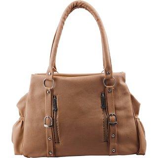 Brown Plain Handbag