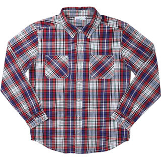 Shoppertree Red And Blue Check Full Sleeves Shirt