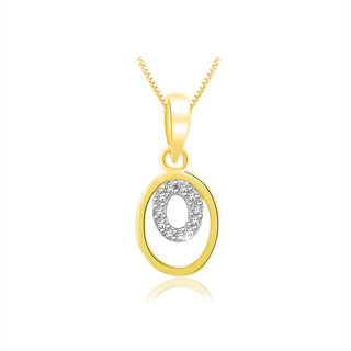 Sparkles 0.05 Ct. Beautiful 18Kt Gold & Diamond Pendant (Design 1)