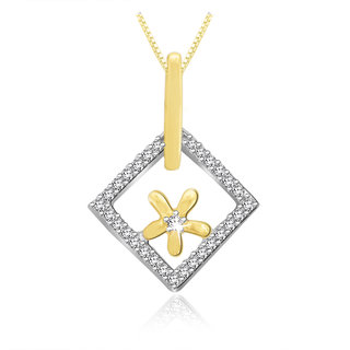 Sparkles 0.07 Ct. Beautiful 18Kt Gold & Diamond Pendant (Design 2)