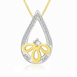 Sparkles 0.08 Ct. Beautiful 18Kt Gold & Diamond Pendant (Design 2)