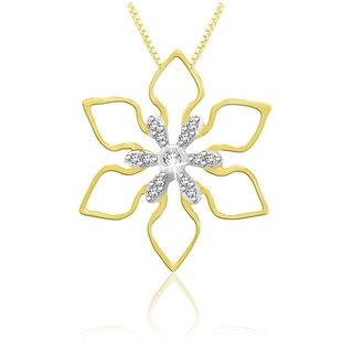 Sparkles 0.05 Ct. Beautiful 18Kt Gold & Diamond Pendant (Design 3)