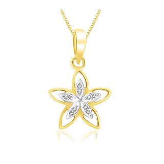 Sparkles 0.05 Ct. Beautiful 18Kt Gold & Diamond Pendant (Design 4)