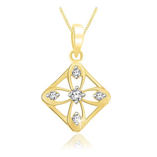 Sparkles 0.07 Ct. Beautiful 18Kt Gold & Diamond Pendant (Design 3)