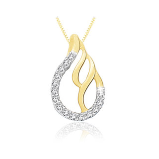 Sparkles 0.07 Ct. Beautiful 18Kt Gold & Diamond Pendant (Design 4)