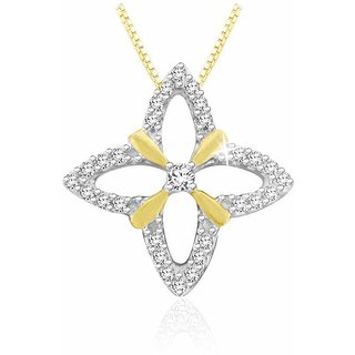 Sparkles 0.09 Ct. Beautiful 18Kt Gold & Diamond Pendant (Design 2)