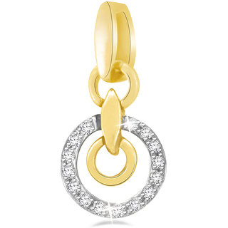 Sparkles 0.07 Ct. Stylish Circle Gold Pendant