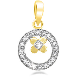 Sparkles 0.08 Ct. 18Kt Gold & Diamonds Pendant P8105