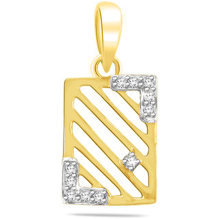 Sparkles 0.04 Ct. Stylish Gold Pendant