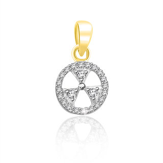 Sparkles 0.07 Ct. Beautiful 18Kt Gold & Diamond Pendant (Design 7)